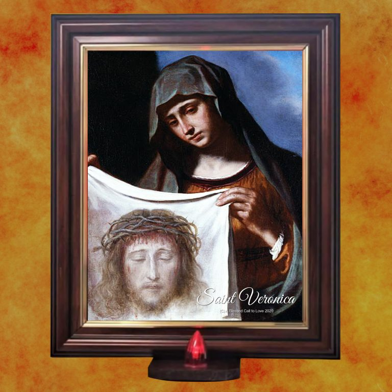 Oil dedicated to St. Veronica