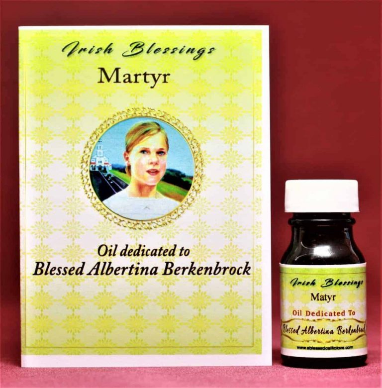 Blessed Albertina Berkenbrok healing oil