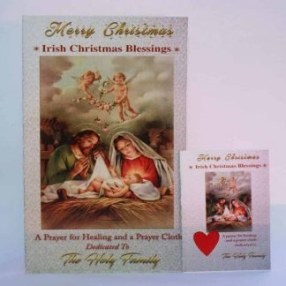Christmas Card with prayer for healing and prayer cloth