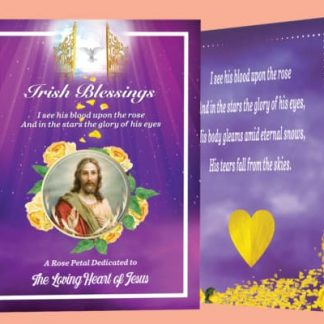 Yellow rose petal prayer card