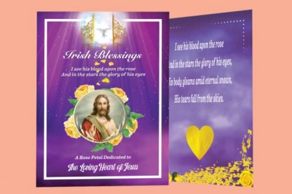 Yellow rose petal prayer card