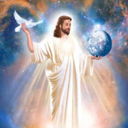 Jesus King of Peace on prayer cloth