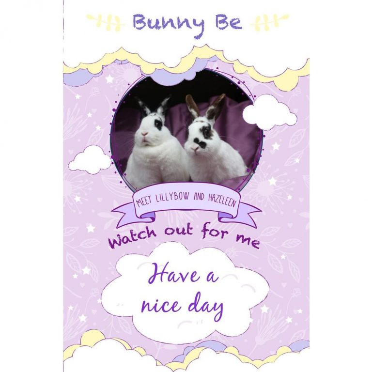 Bunny Be Lillybow & Hazeleen greeting card