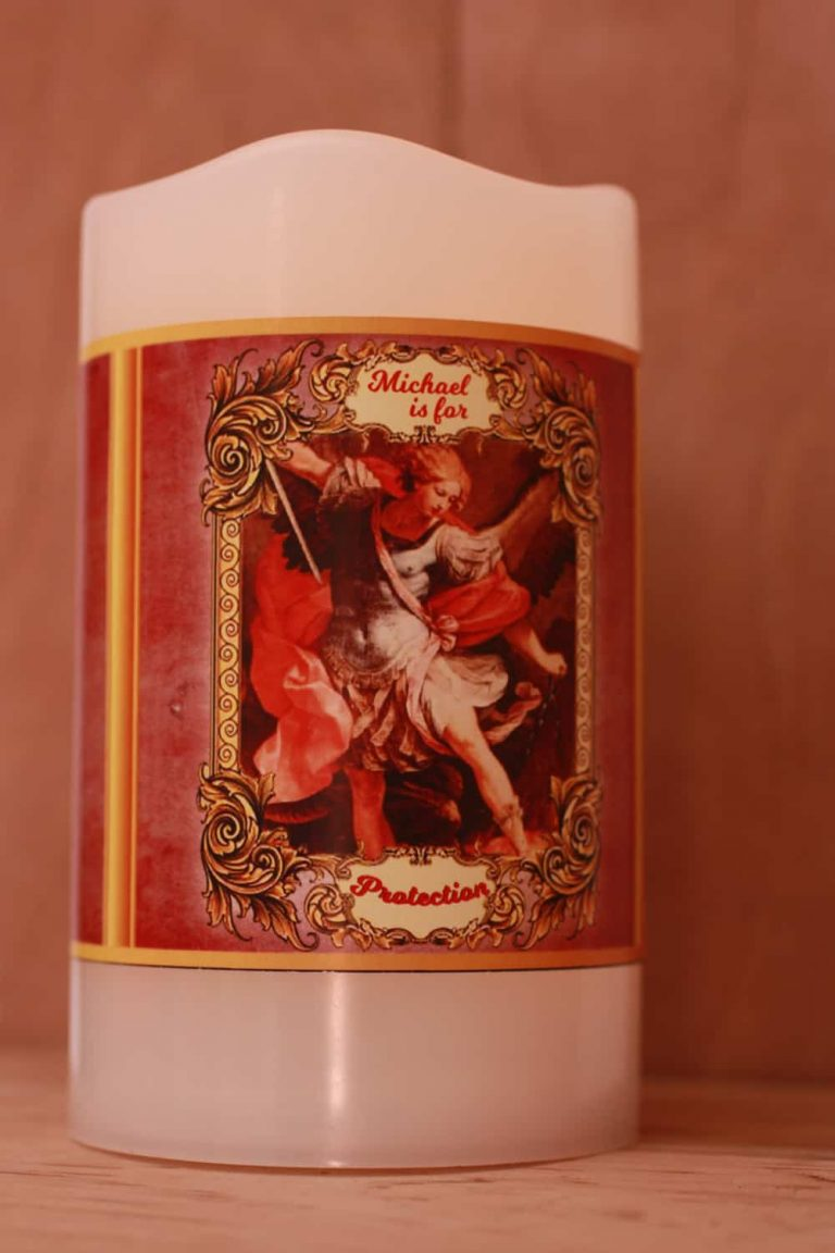 St Michael battery candle