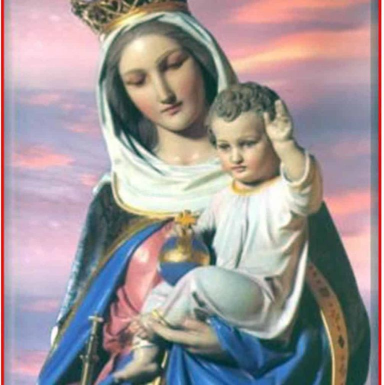 Our Lady Help of Christians on prayer cloth