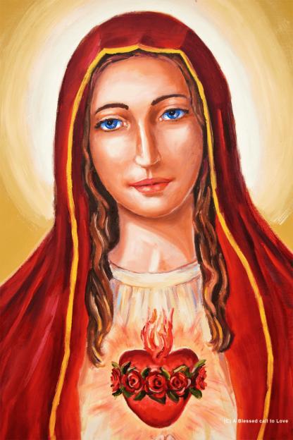 Our Lady of Joy on prayer cloth