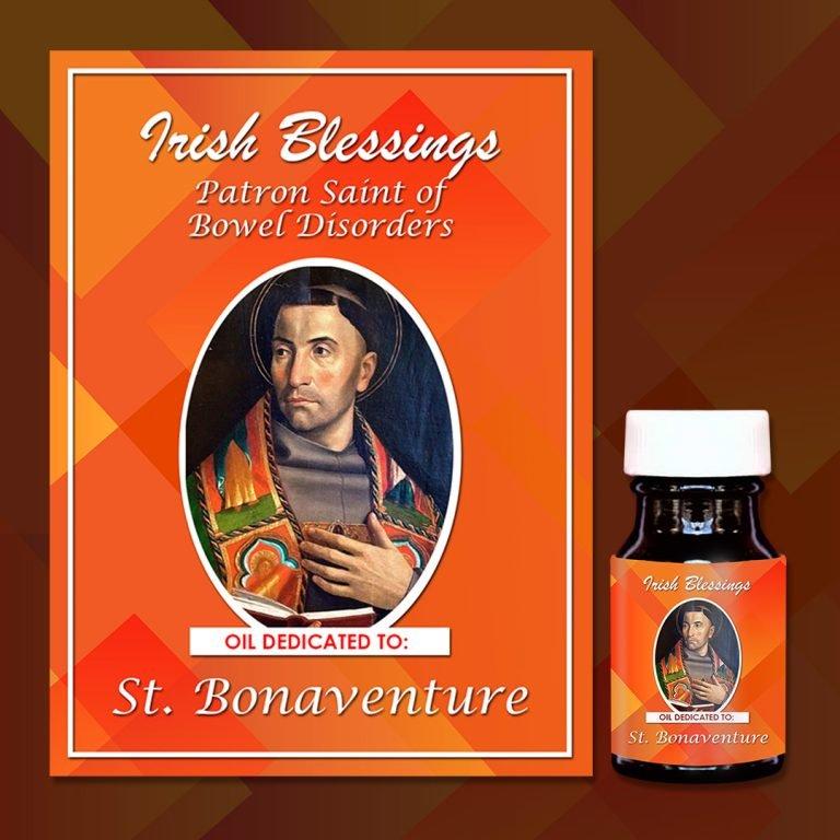 Oil dedicated to St.Bonaventure on a prayer cloth card