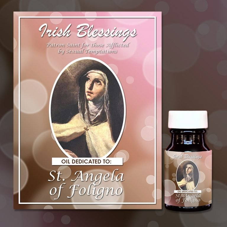 St Angela of Foligno healing oil (Patron for Afflicted by Sexual Temptation)