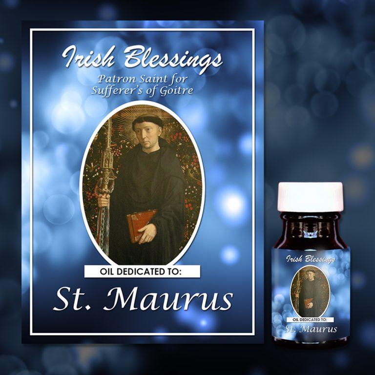 St Maurus healing oil (Patron for Goiter)