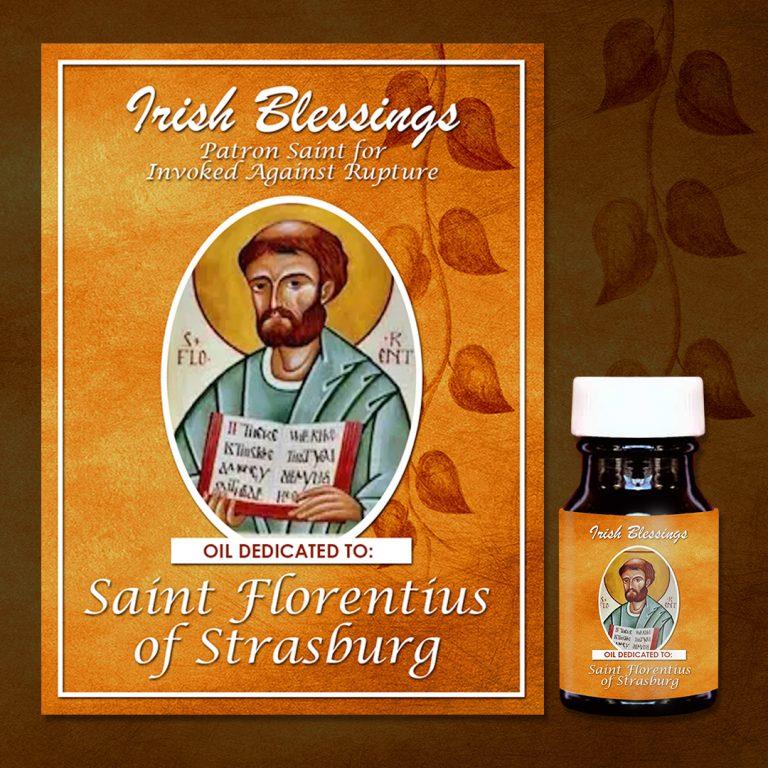 St Florentius of Strasburg healing oil