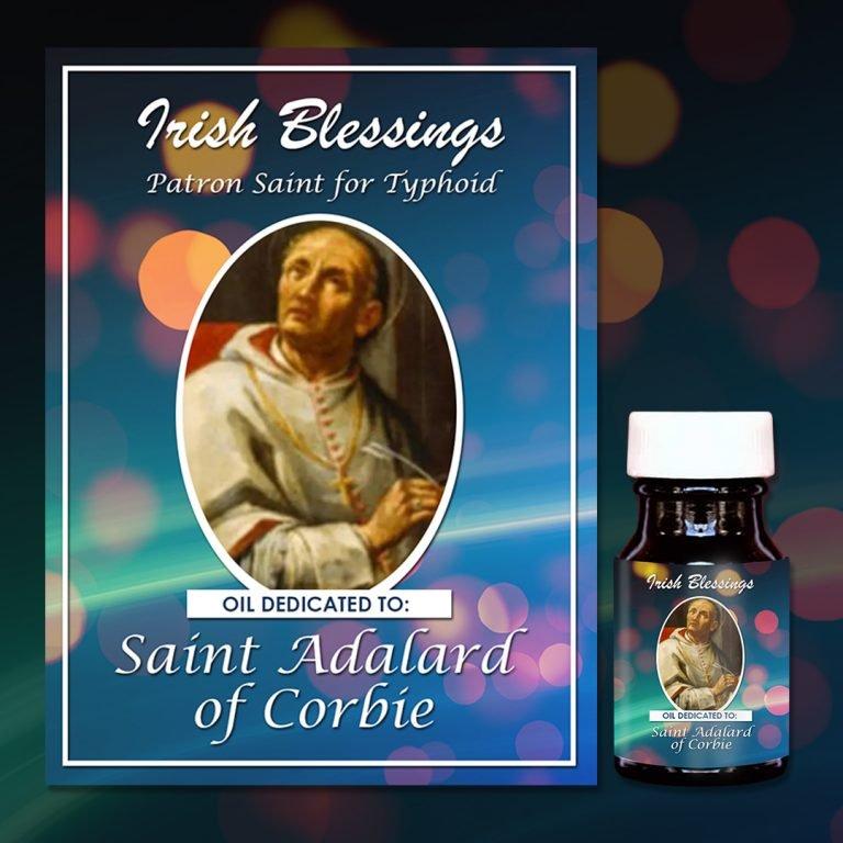 St Adalard of Corbie healing oil (patron for typhoid)
