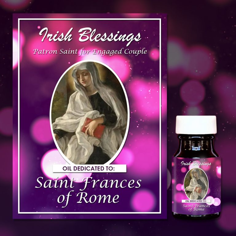 St Frances of Rome healing oil (patron for engaged couples)