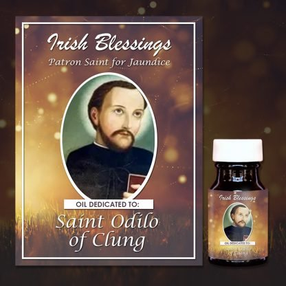 St Odilo of Cluny healing oil (patron for jaundice)