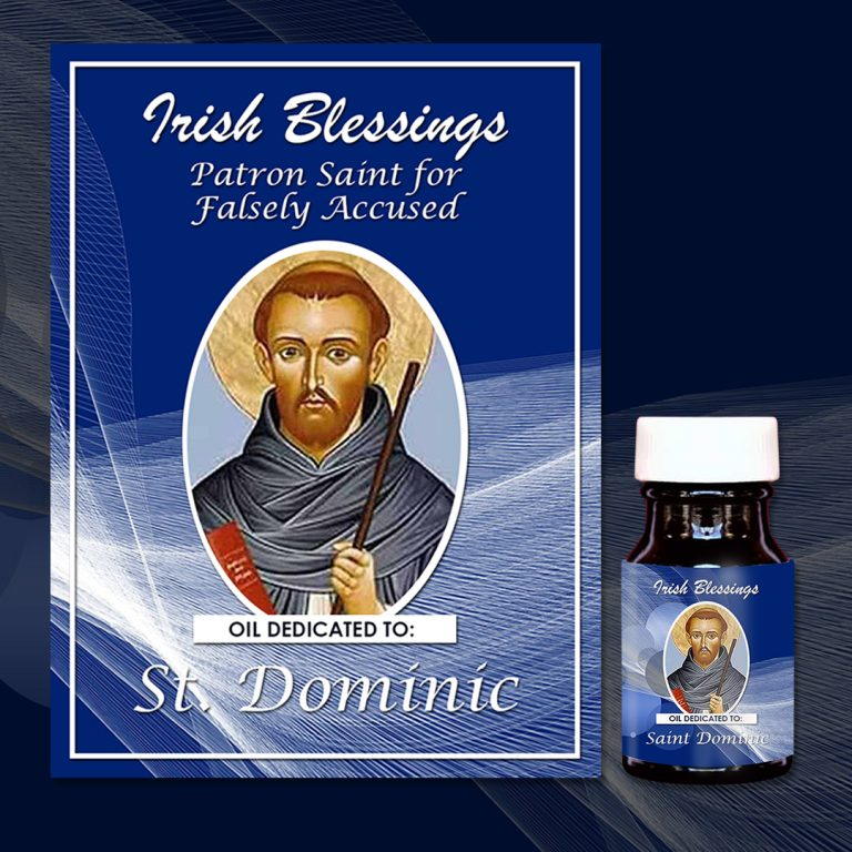 St Dominic Healing Oil (Patron of Falsely Accused)