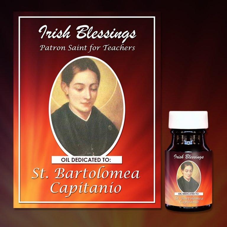 St Bartolomea Capitanio healing oil (Patron For Teachers)