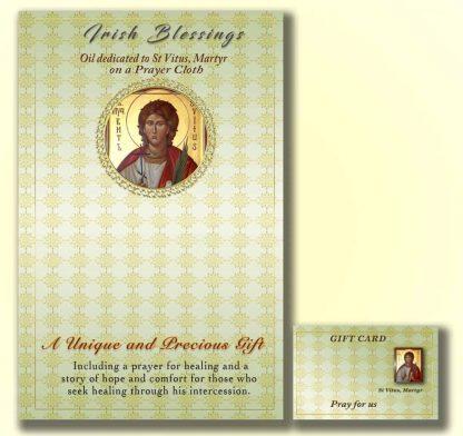 Martyr St Vitus on prayer cloth