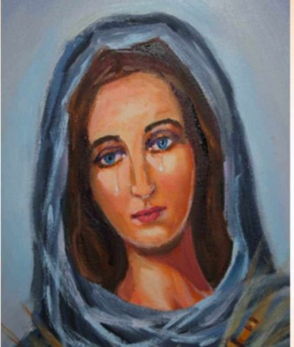 Feast of Our Lady of Sorrow on prayer cloth