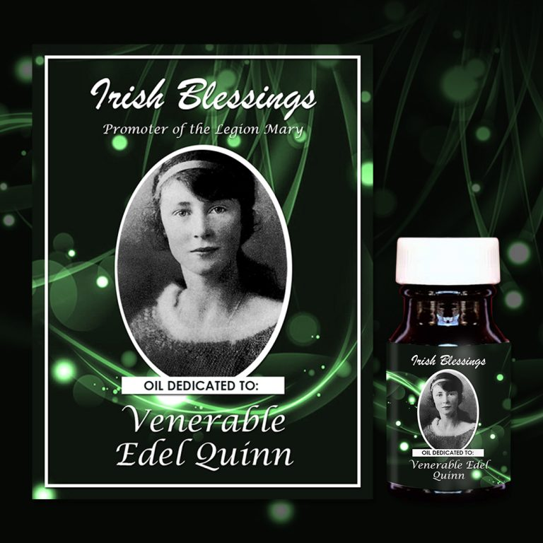 Venerable Edel Quinn healing oil (promoter of the Legion of Mary)