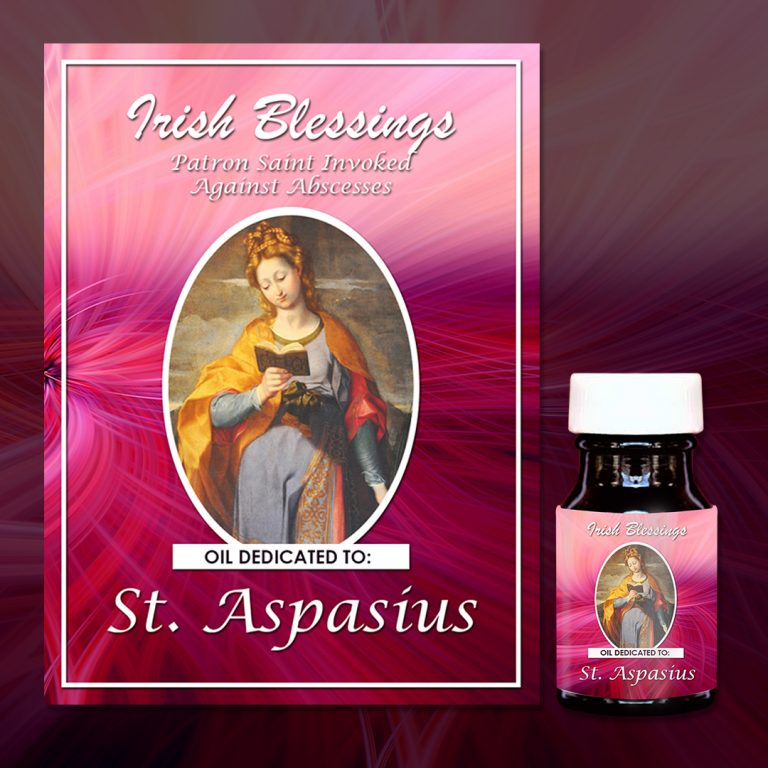 St Aspasius of Auch healing oil (Patron for Abscesses )