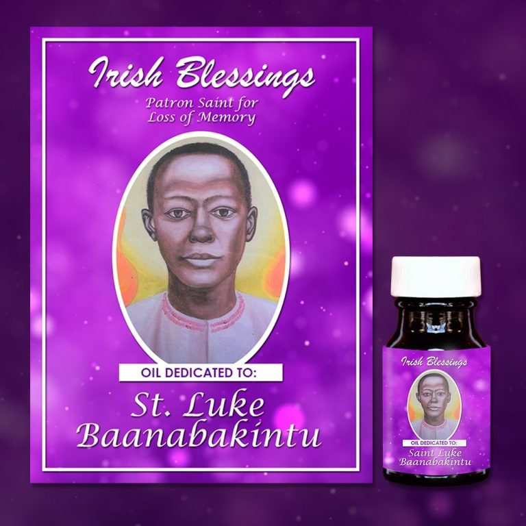 St Luke Baanabakintu healing oil (Patron Saint for Loss of Memory)