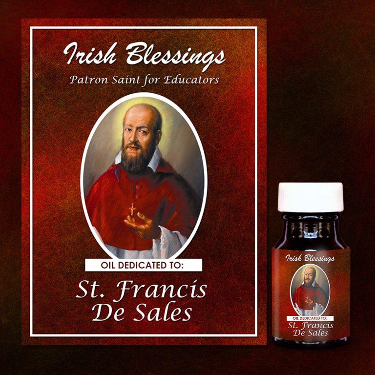 St Francis de Sales Healing Oil (Patron Saint for Educators)