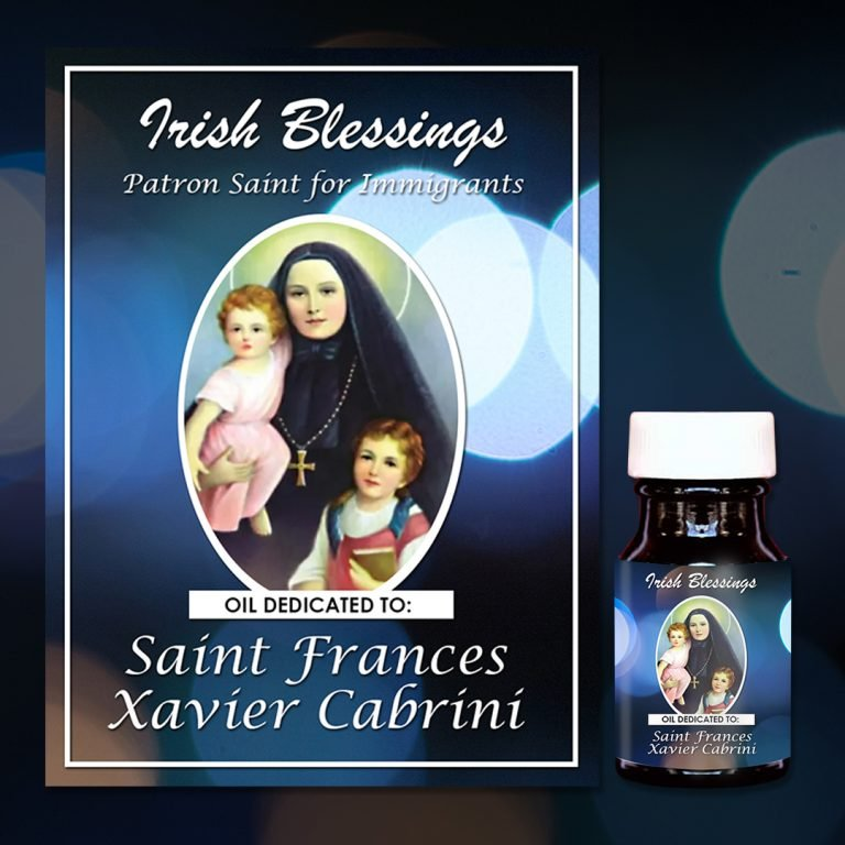 St Frances Xavier Cabrini healing oil (Patron for Immigrants)