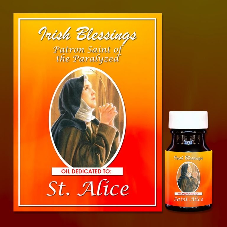 St Alice healing oil