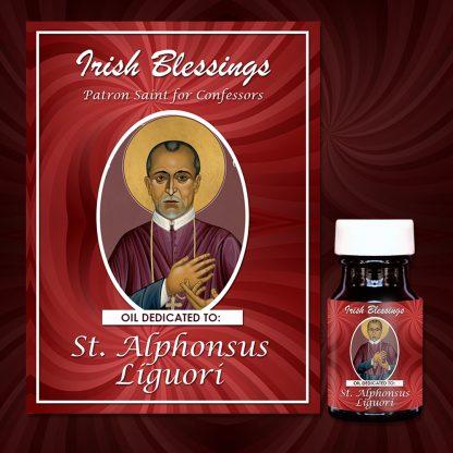 Oil Dedicated to St Alphonsus Liguori on Prayer Cloth (Patron Saint for Confessors)