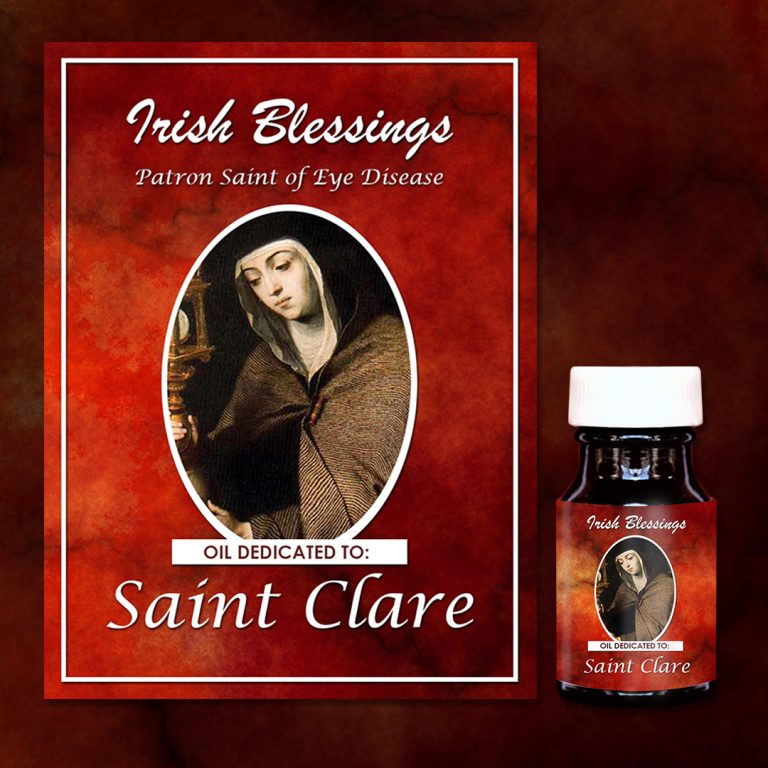 St Clare Healing Oil (Patron Saint of Eye Disease)