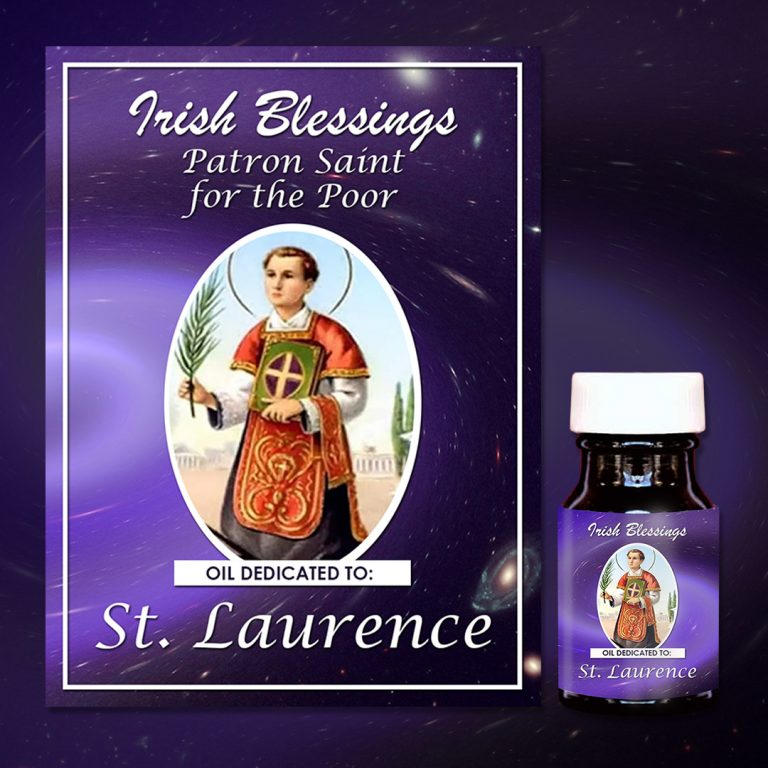 St Laurence healing oil (Patron for the Poor)