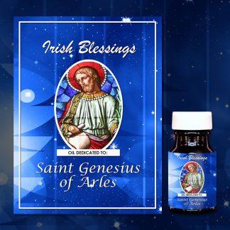 St Genesius of Arles healing oil (patron for chilblains)