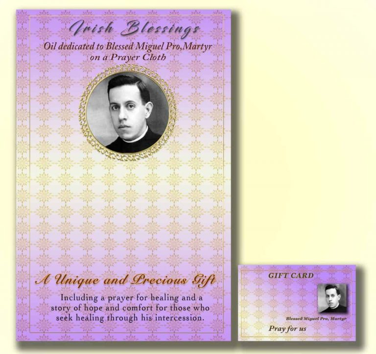 Martyr Blessed Miguel Pro - Cloth | A Blessed Call To Love
