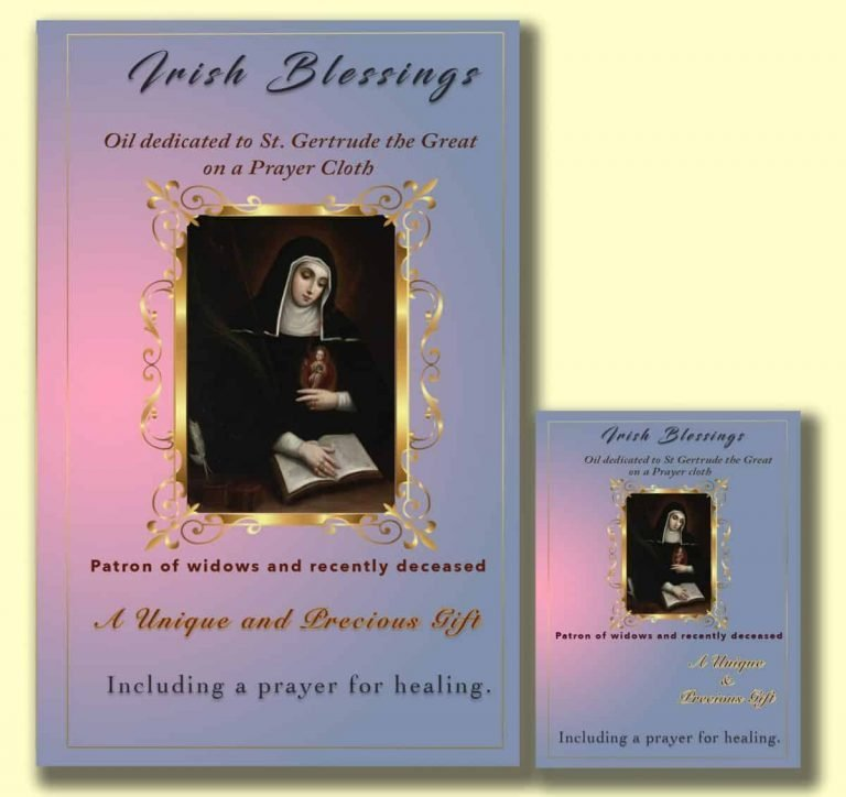 Oil dedicated to St Gertrude the Great - Cloth | A Blessed Call To Love