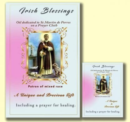 Oil dedicated to St Martin de Porres - Cloth | A Blessed Call To Love