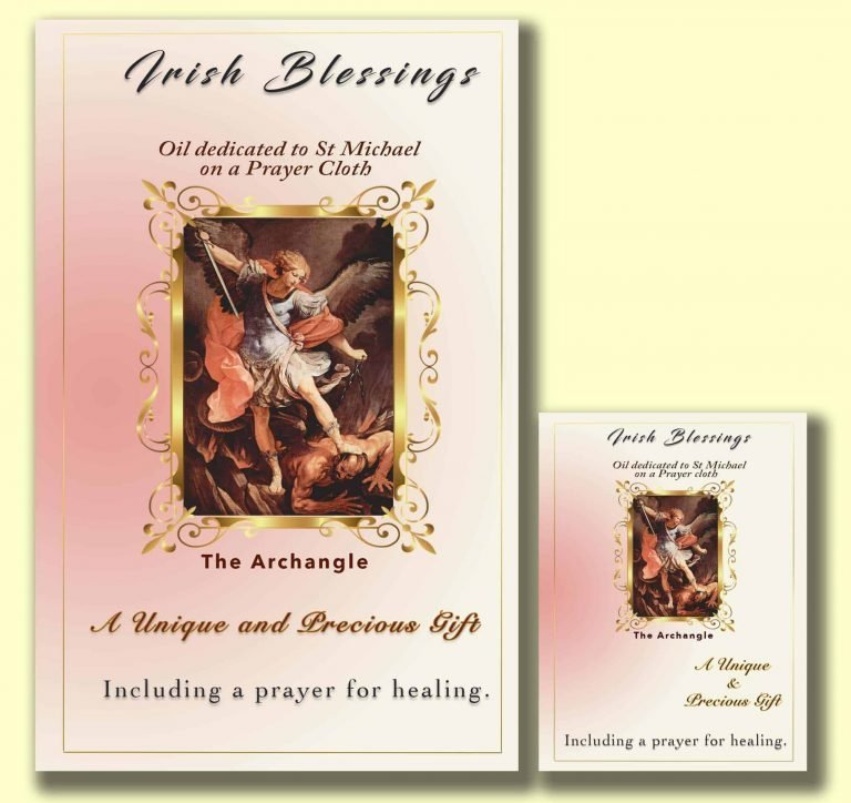 Oil dedicated to St Michael - Cloth | A Blessed Call To Love