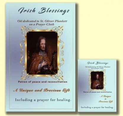 Oil dedicated to St Oliver Plunkett - Cloth | A Blessed Call To Love