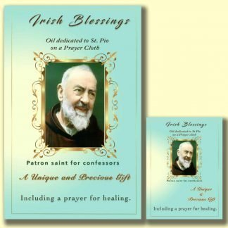 Oil dedicated to St Pio - Cloth | A Blessed Call To Love