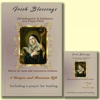 Oil dedicated to St Scholastica - Cloth | A Blessed Call To Love