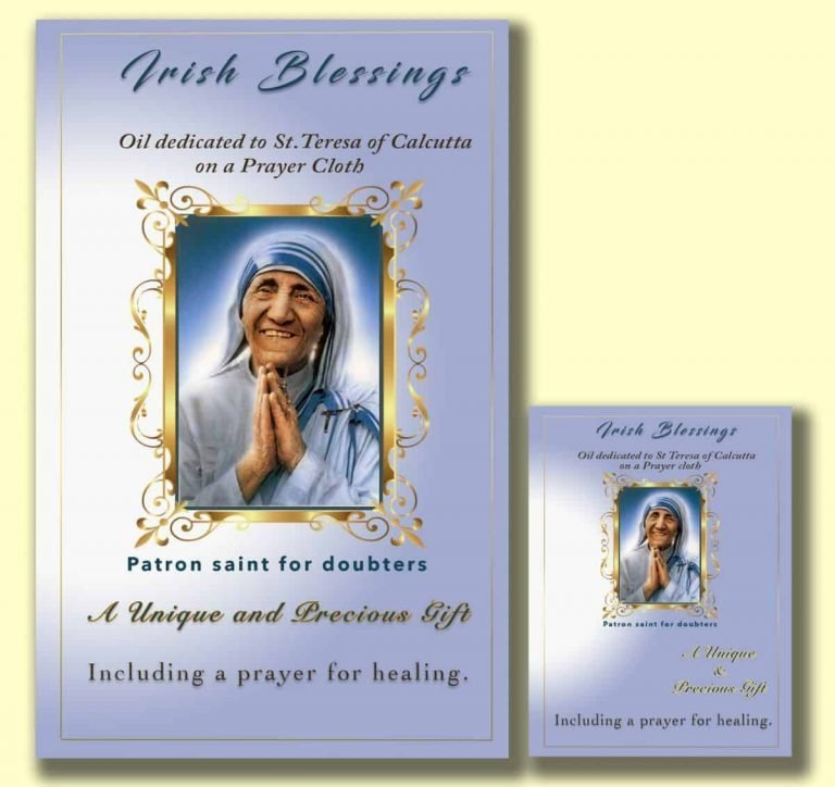 Oil dedicated to St Teresa of Calcutta - Cloth | A Blessed Call To Love