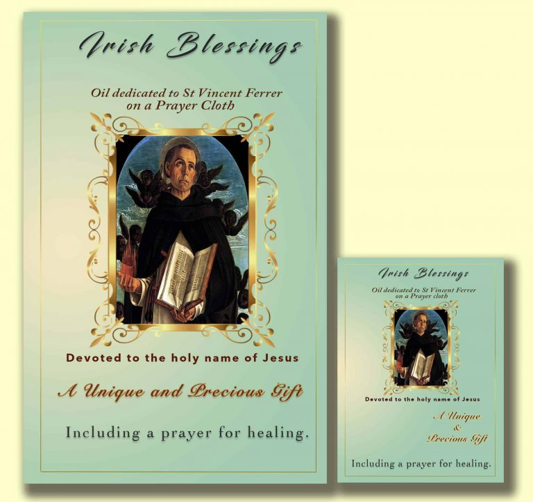 Oil dedicated to St Vincent Ferrer - Cloth | A Blessed Call To Love