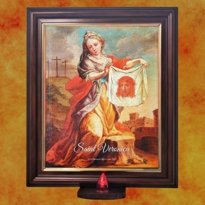St Veronica picture with battery light