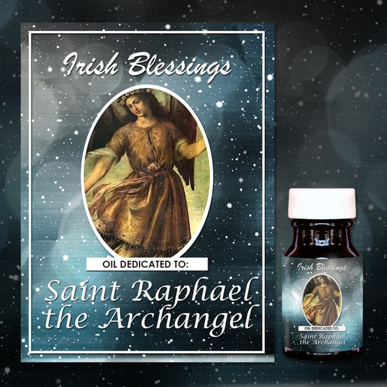 Oil dedicated to St Raphael the Archangel