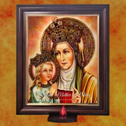 St Anne Picture with Battery Light