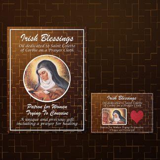 St Colette of Corbie on Prayer Cloth