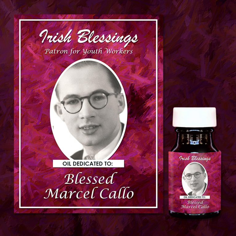 Blessed Marcel Callo Healing Oil (Patron for Youth Workers)