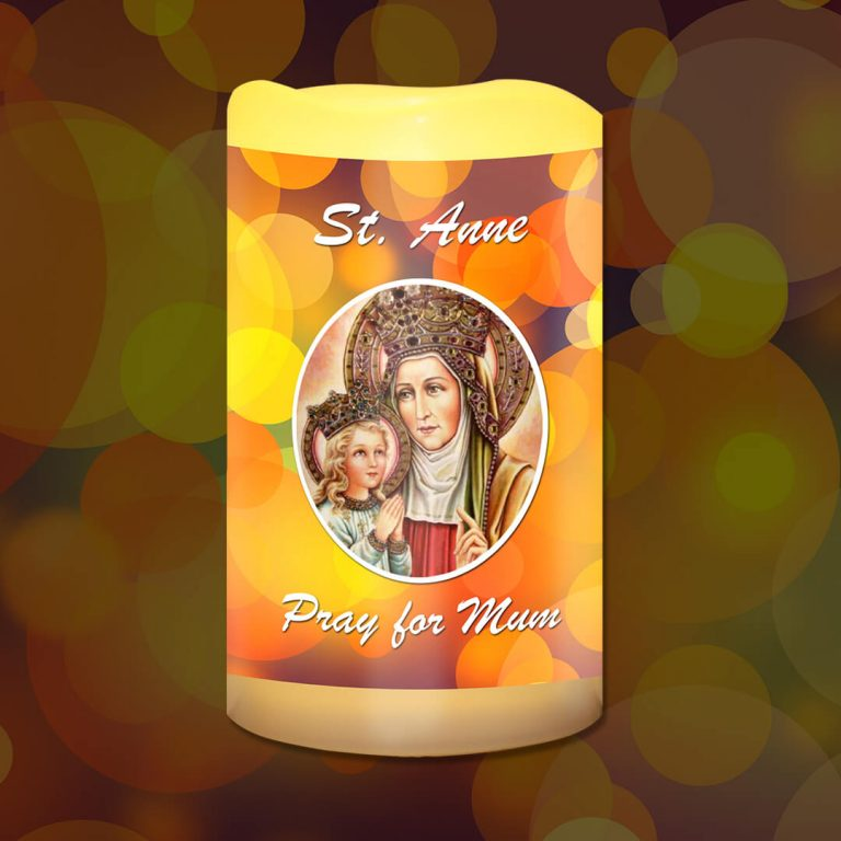St Anne Pray for Mum Battery Candle