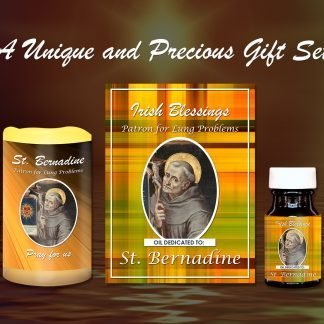 St Bernadine Patron for Lung Problems Set - Exclusive Gift