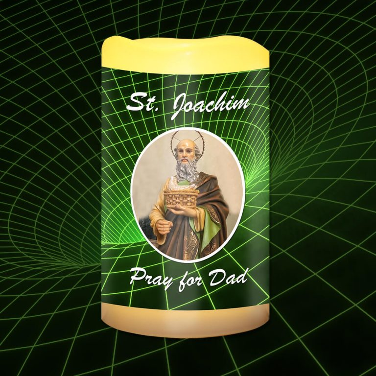 St Joachim Pray for Dad Battery Candle