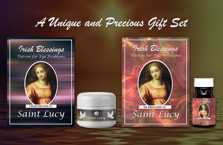 St Lucy Set (Patron for eye problems) - Exclusive Gift