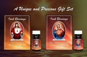 The Sacred Heart of Jesus Oil and Immaculate Heart of Mary Oil Set - Exclusive Gift